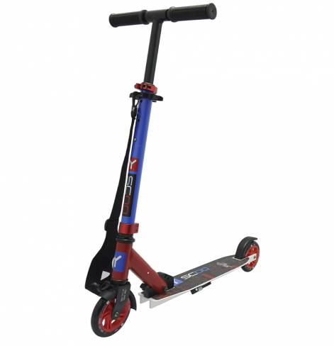 Y-SCOO 125 mini city Montreal red-blue