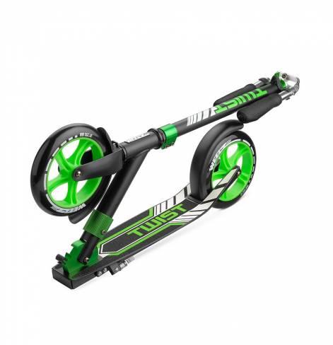 Самокат Weelz Twist черно-зеленый