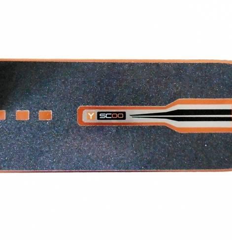 Самокат Y-SCOO SLICKER Deluxe 205 blue с амортизатором