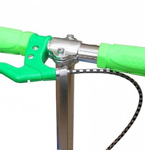 Самокат Y-SCOO MAXI CITY Gagarin Green трансформер с ручным тормозом