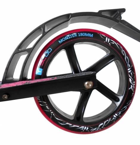 Самокат Y-SCOO MONSTER 230 с амортизатором blue/pink