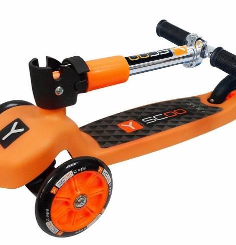 Трехколесный самокат Y-SCOO TRIO 120 NEON orange