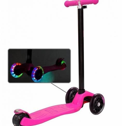 Самокат Y-SCOO maxi A20 Shine со светящими колесами