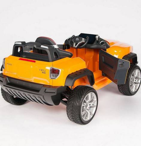 Электромобиль ДЖИП-внедорожник BROON Henes полноприводный с планшетом  оранжевый